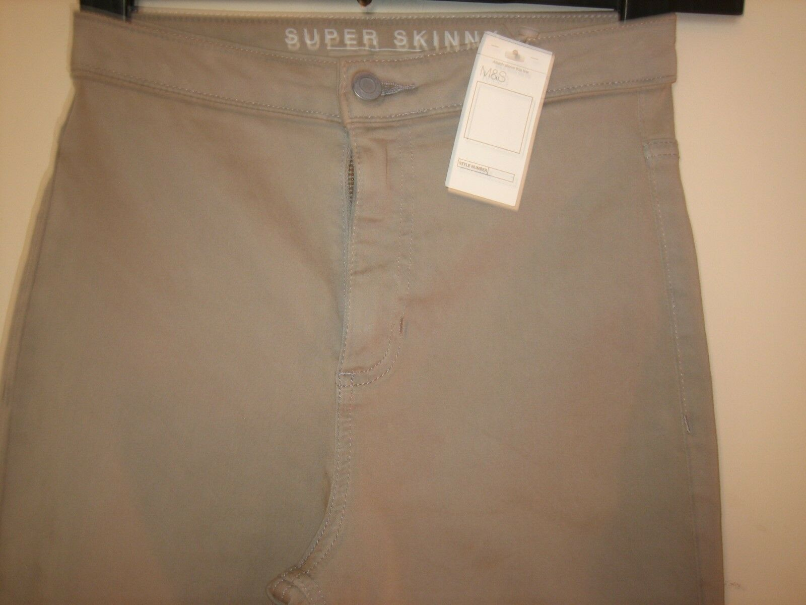 GB11) (NEW & TAGS) WOMEN'S MARKS & SPENCER SUPER SKINNY TROUSERS SIZE 8 LEG 28