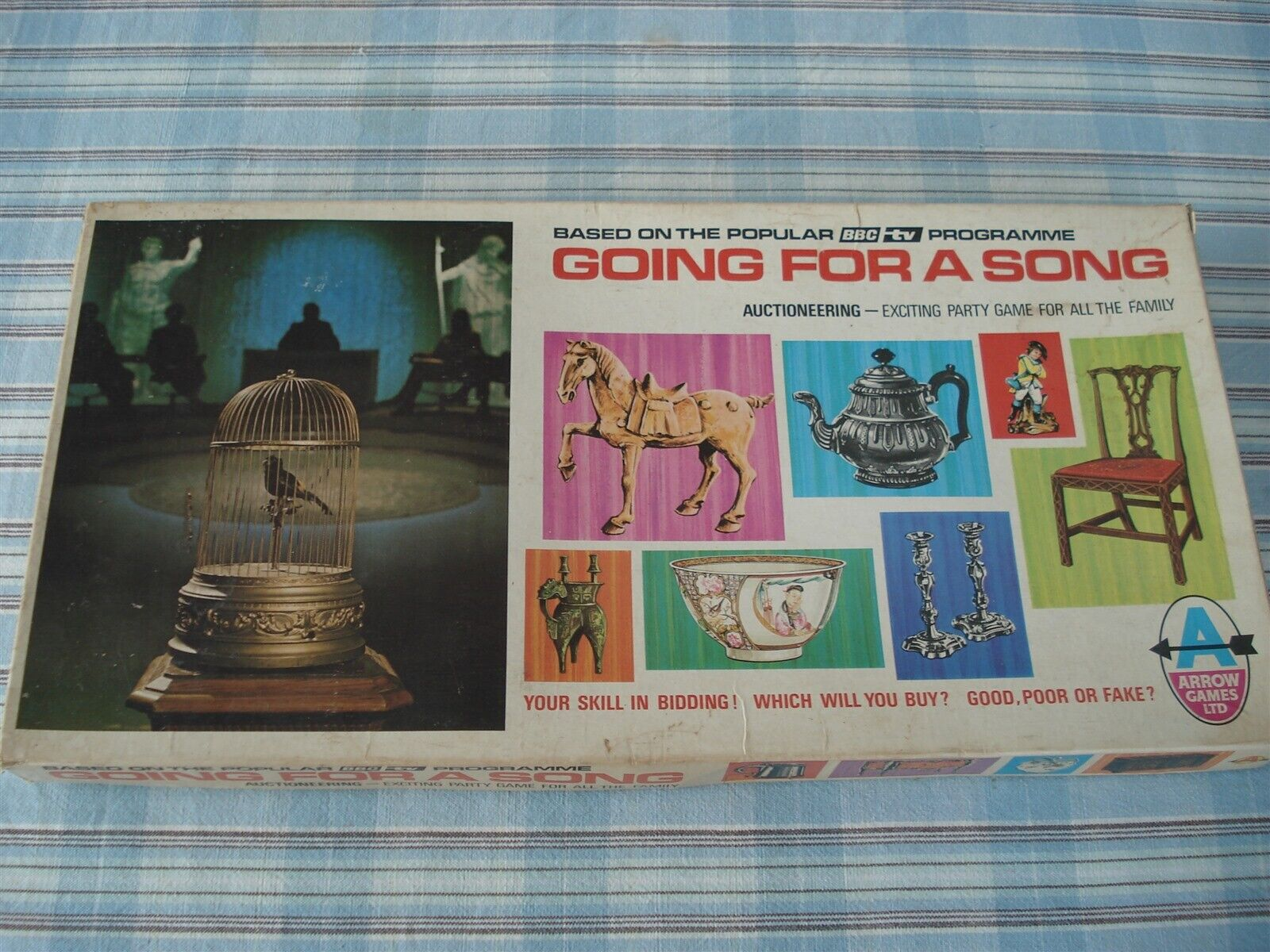 GOING FOR A SONG GAME - WHAT AM I BID GAME - 60'S - 100%  - AUCTIONEERING GAME