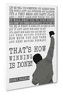 Details About Rocky Balboa Motivational Quote Canvas Picture Print Size 51x76cm Wall Art