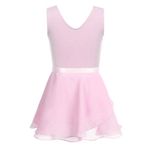 Baby Girl Gymnastics Ballet Dress Toddler Kid Leotard+Tutu Wrap Skirt Dance wear