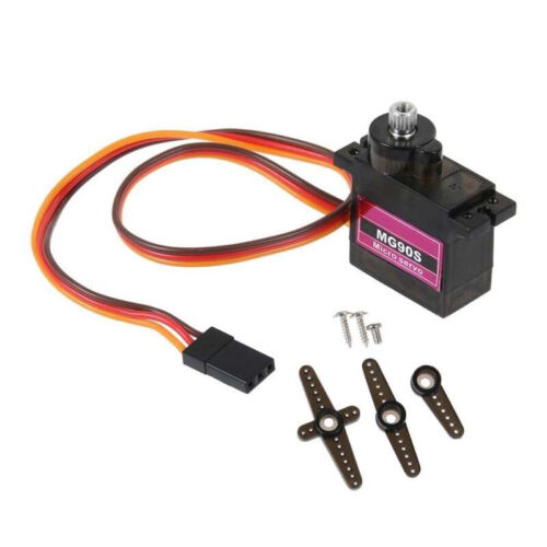 4PCS MG90S Micro Metal Gear Servo For RC Airplane Helicopter Boat Car HL