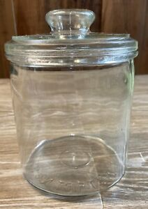 Vintage-5th-District-Tobacco-Store-Counter-CIGAR-Glass-Jar-Factory-256-NC-W-Lid