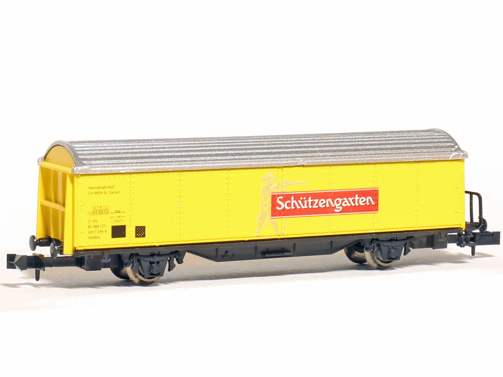 Sowa-N 2006 - Güterwagen Kühlwagen Bierwagen SBB Schützengarten - Spur N - NEU