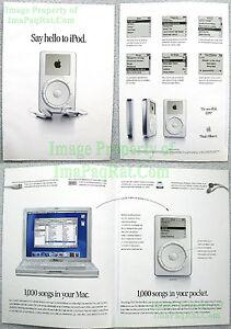 2001-4-PG-1st-Generation-Apple-iPod-Brochure-Insert-Advertisement-SAY-HELLO