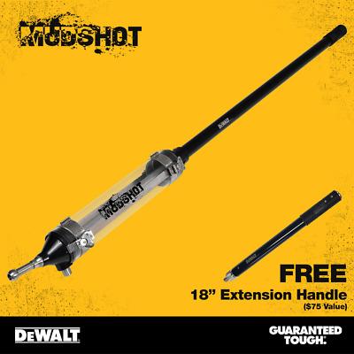 "DEWALT MUDSHOT Automatic Drywall Compound Tube w// FREE 18/"" Extension Handle"