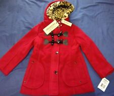 a0785b322 Urban Republic Little Girls Olive ZIPPER Detail Leopard Hood Trendy ...