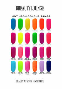 Image Is Loading Bluesky Nail Polish Bright Neon Colour Range Uv