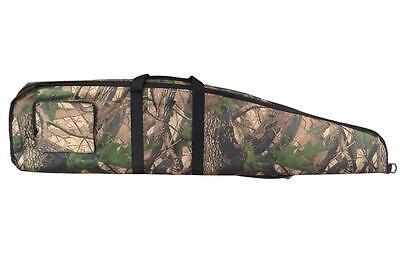 Double Camo Rifle Case 2 Gun Slip Bag Padded Pocket Air Shooting Canvas Strap