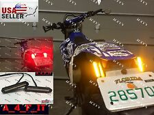 CUSTOM AMBER BLINKERS LED MINI TURN SIGNALS RUNNING LIGHTS MOTORCYCLE Slim RED