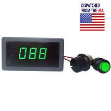 DC 6V 12V 24V PWM Motor Speed Controller Green Digital LED Display Regulator NEW
