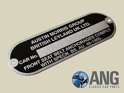 Morris Marina Austin Allegro /'Austin Morris grupo ID de chasis Placa CRCP 339
