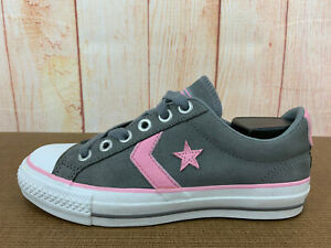 Details about Rare! Converse Star Player EV Ox Canvas Low Top Sneakers Womens Sz 6 Gray Z39(7)