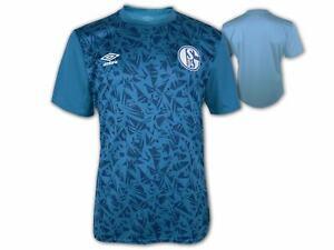 Umbro-Schalke-04-Warm-Up-Shirt-20-21-blau-S04-Trikot-Fussball-Fan-Jersey-S-3XL