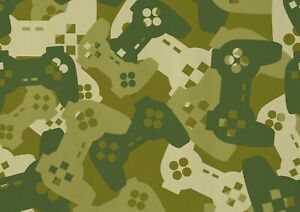 A1 Awesome Gamer Camouflage Poster Art Print 60 x 90cm 180gsm -Cool Gift #14674