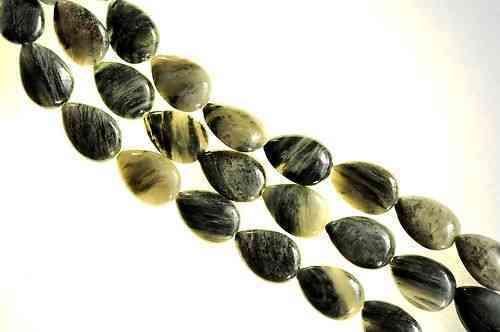 15 mm algues quartz goutte strang S4-02 plat