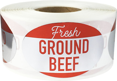 500 Labels Total 1.25 x 2 Inches Cranberry Orange Nut Grocery Food Stickers