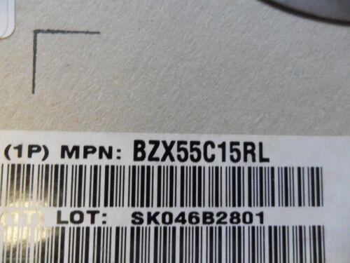 ZENER 15V 0.5W 1//2W 500mW 2-PIN DO-35 100 PER LOT DIODE