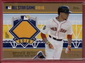best website 83a04 c2b29 Details about Mookie Betts 2016 Topps Gold MLB All Star Game Workout Jersey  #ASTIT-MBE #13/50