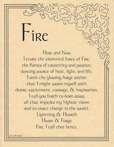FIre-Evocation-Parchment-Page-for-Book-of-Shadows-Altar