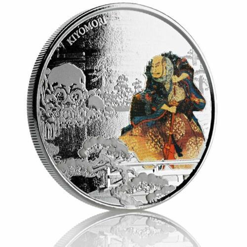 Kiyomori .999 Fine Silver Coin Proof Color #A470 2018 1 oz Samurai Archives