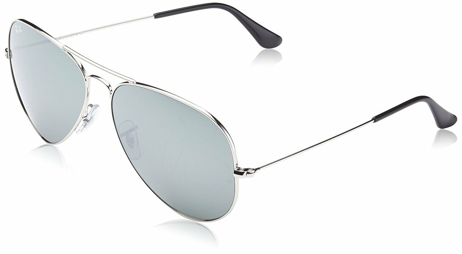 b0d7f61022 Ray Ban Aviator Silver Mirror Lens Rb3025 003 40 Flash Sunglasses RB Large  62 Mm for sale online