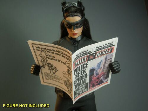 """Daily Bugle for Spiderman Peter Parker /""""Police Seek.../"""" 1//6 Scale Newspaper"""