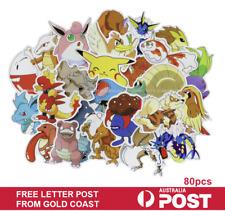 100pc POKEMON GO Pikachu Cartoon Stickers Laptop Sticker Luggage Decal USA Ship!
