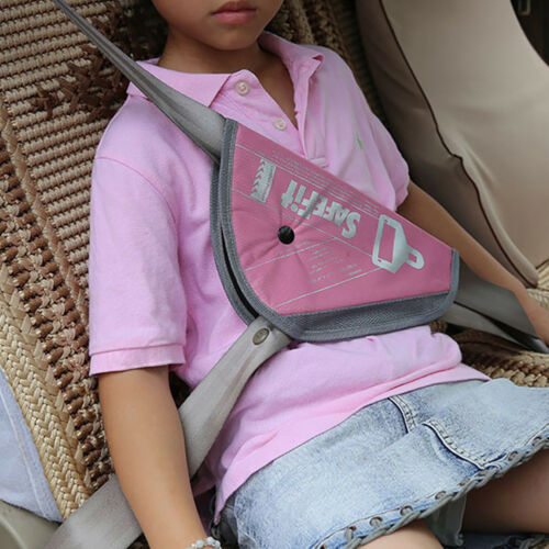 BL/_ Car Seat Belt Cover Kids Safety Pad Adjuster Triangle Protective Holder FJ