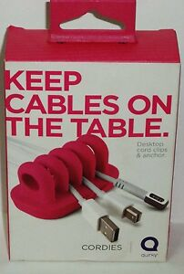 1-Quirky-Cordies-Keep-Kabel-auf-dem-Tisch-Desktop-Kabel-Clips-amp-Anker-Pink-Nip