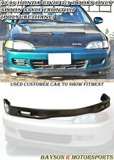 Spn-Style Front Lip (Urethane) Fits 92-95 Honda Civic 3dr