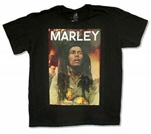 Constructif Bob Marley T-shirt Photo Overlay Lion Size L Official Merchandise