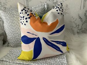 16-x-16-034-John-Lewis-Camino-Fabric-Cushion-Cover-Double-Side-Handmade-Multicolour