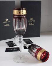 Rosenthal VERSACE Gala Prestige 2x CHAMPAGNE gläser RED ROT *NEU & OVP*