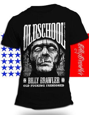 Rockabilly Vintage T-Shirt, Oldschool Rules, Rocker,Tattoo, S-XXL Schwarz  Neu
