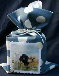 POODLE-DOG-FABRIC-DOORSTOP-TISSUE-BOX-HOLDER-SANDRA-COEN-ARTIST-PRINT-HANDMADE