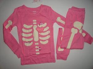 2ddc54e39dd8 NWT Gymboree 2T Halloween Skeleton Lil  Creatures Glow In Dark Pink ...