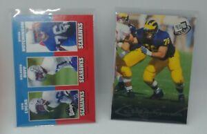 Steve Hutchinson 2 card rookie lot 2001 Upper Deck Vintage Press Pass Seahawks