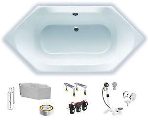 badewanne sechseckwanne acryl hoesch spectra 180x80 komplettset tr ger ebay. Black Bedroom Furniture Sets. Home Design Ideas