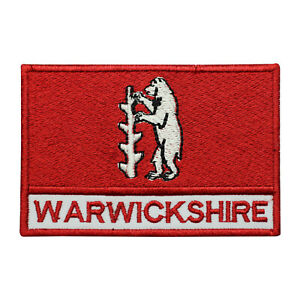 Warwickshire County Flag Patch Iron On Patch Sew On Badge Embroidered Patch
