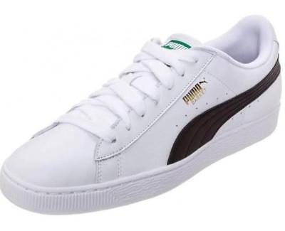 quality design cd673 bf6d6 Puma Basket Classic LFS 35436722 White Black Mens Shoes Sneakers All Sizes  | eBay