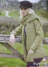 d69958351b0b82 item 7 Stylecraft Knitting Pattern 8478 Ladies Jacket Cable Pocket Scarf DK  Life 32-46