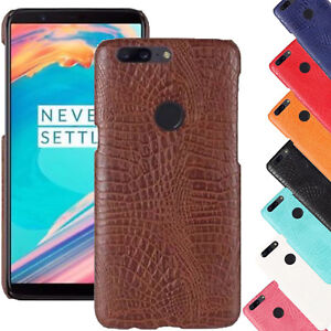 new products fc8e4 e4ea5 Details about For OnePlus 5T Crocodile Skin Pattern Leather Back Soft Ultra  Thin Case Cover UK