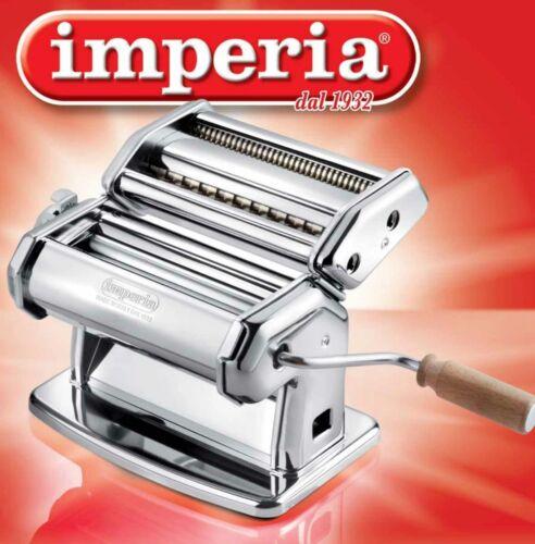 Imperia Macchina per Pasta Manuale con Manovella Sfogliatrice Acciaio