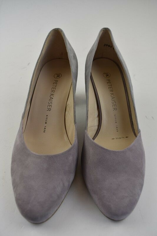 Peter Kaiser Damen Pumps Wide Fit Pastell Grau Leder Gr.37,5