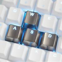 Transparent Zinc Metal Wasd 4 Key Caps Cherry Mx Keyset For Mechanical Keyboard