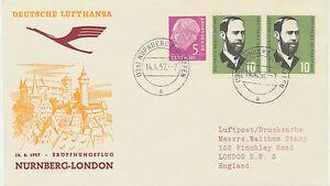 "2415 1957 Erstflug Deutsche Lufthansa (West) Convair cv-440 ""Nürnberg-London"""