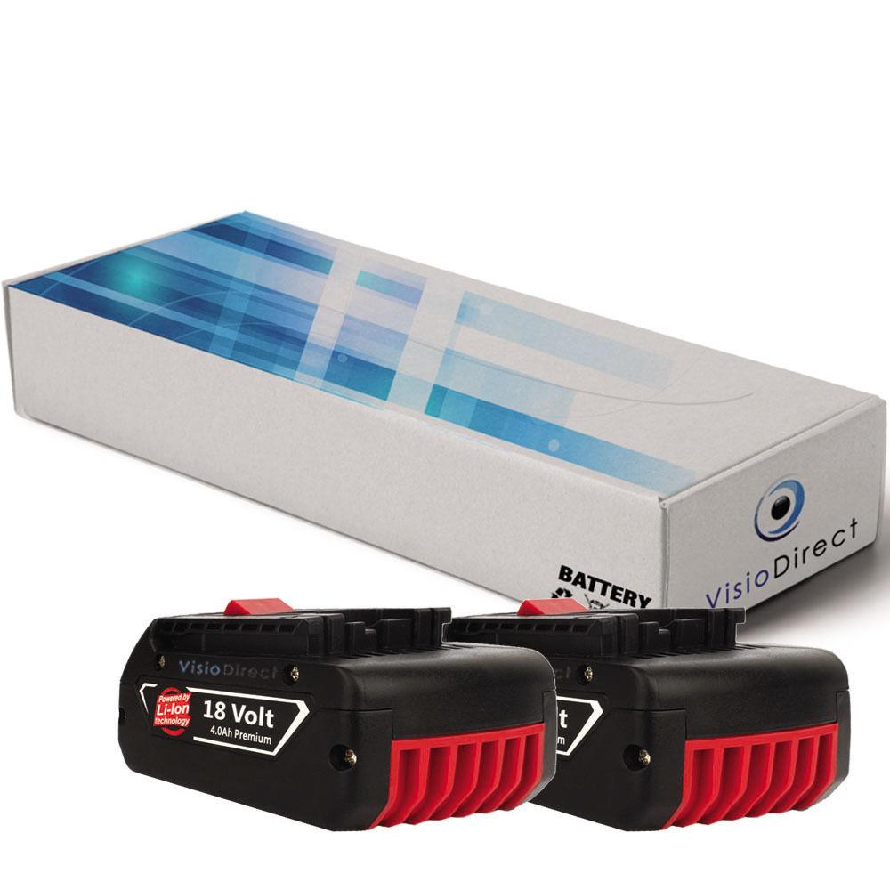 Lot de 2 batteries 18V 4000mAh pour Bosch 37618-01 - Société Française -
