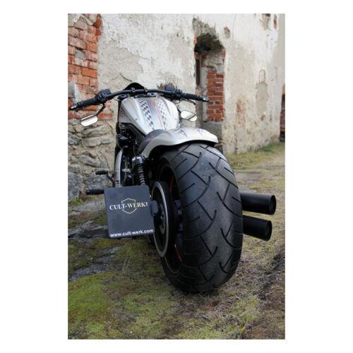 TÜV Latérale Support de plaque d/'immatriculation cultwerk Pour Harley Night Rod Spec Année de construction 02-17 M