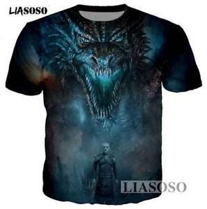 New-Fashion-Womens-Mens-Game-of-Thrones-Funny-3D-Print-Casual-T-Shirt-YT843