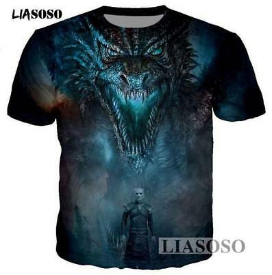 New Fashion Womens//Mens Game of Thrones Funny 3D Print Casual T-Shirt YT522